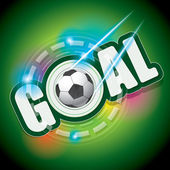 Goal and football Vector — Stock Vector