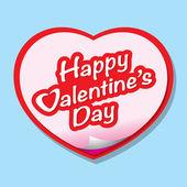 Happy valentine's day belettering wenskaart — Stockvector
