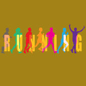 RUNNING VECTOR — Stock Vector