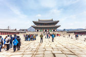 SEOUL, SOUTH KOREA - MARCH 08 : Early morning tourists start to  — Stock Photo