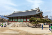SEOUL, SOUTH KOREA - MARCH 08 : Early morning tourists start to  — Foto de Stock