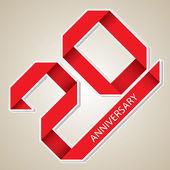 20 years anniversary vector — Vecteur