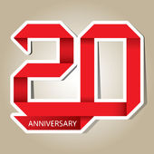 20 years anniversary vector — Stock Vector
