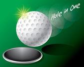 Golf Ball on Edge of Hole — Stock Vector