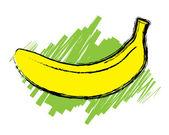 Sketch of open banana — Stock Vector