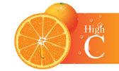 Oranžový vektorové ilustrace — Stock vektor