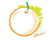 Sketch of an orange — Stock Vector