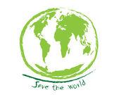 Save the world sketch idea concept — Stok Vektör