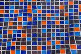 Ceramic tile mosaic in swimming pool - seamless texture — Stock Photo