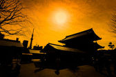 Silhouette of Asakusa temple Tokyo, Japan — Photo