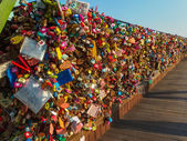 SOUTH KOREA -  MARCH 7 : Thousands of love padlocks at N Seoul T — Stock Photo