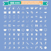 100 Universal Standard Icons vector — Stock Vector