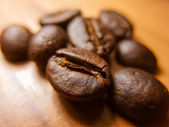 Coffee Beans on Table Closeup — Stock Photo