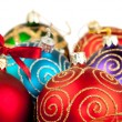 Christmas balls with pine decoration — Foto de stock #14598329