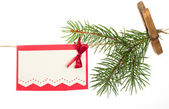 Christmas tree hanging on a rope — Stock Photo