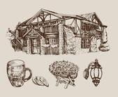 Beer house — Stock Vector
