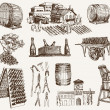Winemaking. the production of sparkling wines - Stockvektor