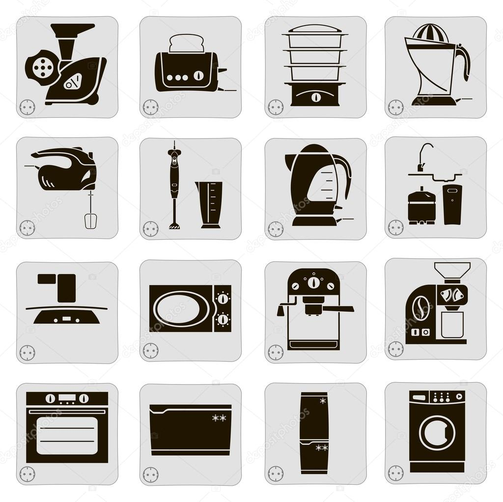 elektrische geräte in der küche — stockvektor © lapuma #18048581