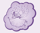 Merry fairy — Stock Vector