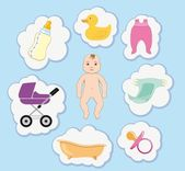 Taking care of the baby — Stock Vector