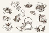 Some types of tea — Stock Vector
