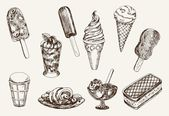 Ice-cream — Stock Vector