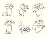 可爱猫咪 — 图库矢量图片