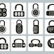 Locks icons — Stock Vector #38305159