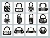 Locks icons — Stock Vector
