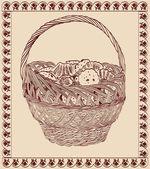 与糖果篮 — 图库矢量图片