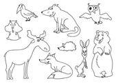 森林动物 — 图库矢量图片