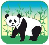 Panda vector hand drawn — Stock Vector