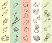 Vegetables vector hand drawn — Stock Vector