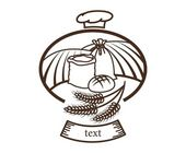 Bread logo — Stock Vector