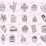 Desserts — Stock Vector #51376883