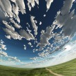 Stock Photo: Spherical heaven and field