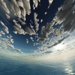 Stock Photo: Spherical sky and ocean