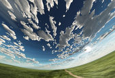 Spherical heaven and field — Stock Photo