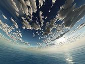 Spherical sky and ocean — Stock Photo