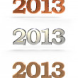New year 2013 numbers — Stock Photo