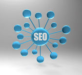 Seo map — Stock Photo