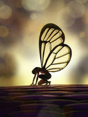 Fairy butterfly — Stock Photo