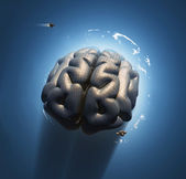Mega brain in space — Stock Photo