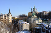 St. Andrew Church and Descent, Kiev, Ukraine — Stock Photo