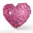 Heart labyrinth — Stock Photo
