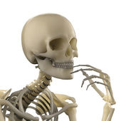 Thinking skeleton — Stock Photo