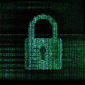 Encrypted digital lock — Stock Photo