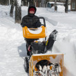 Snow removal with snowblower — Stock Photo #22838256