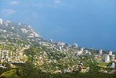 Aerial view of Crimea coastline near Yalta — Stock Photo