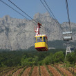 Cableway to Ai-Petri mountain, Crimea, Ukraine - Stock Photo